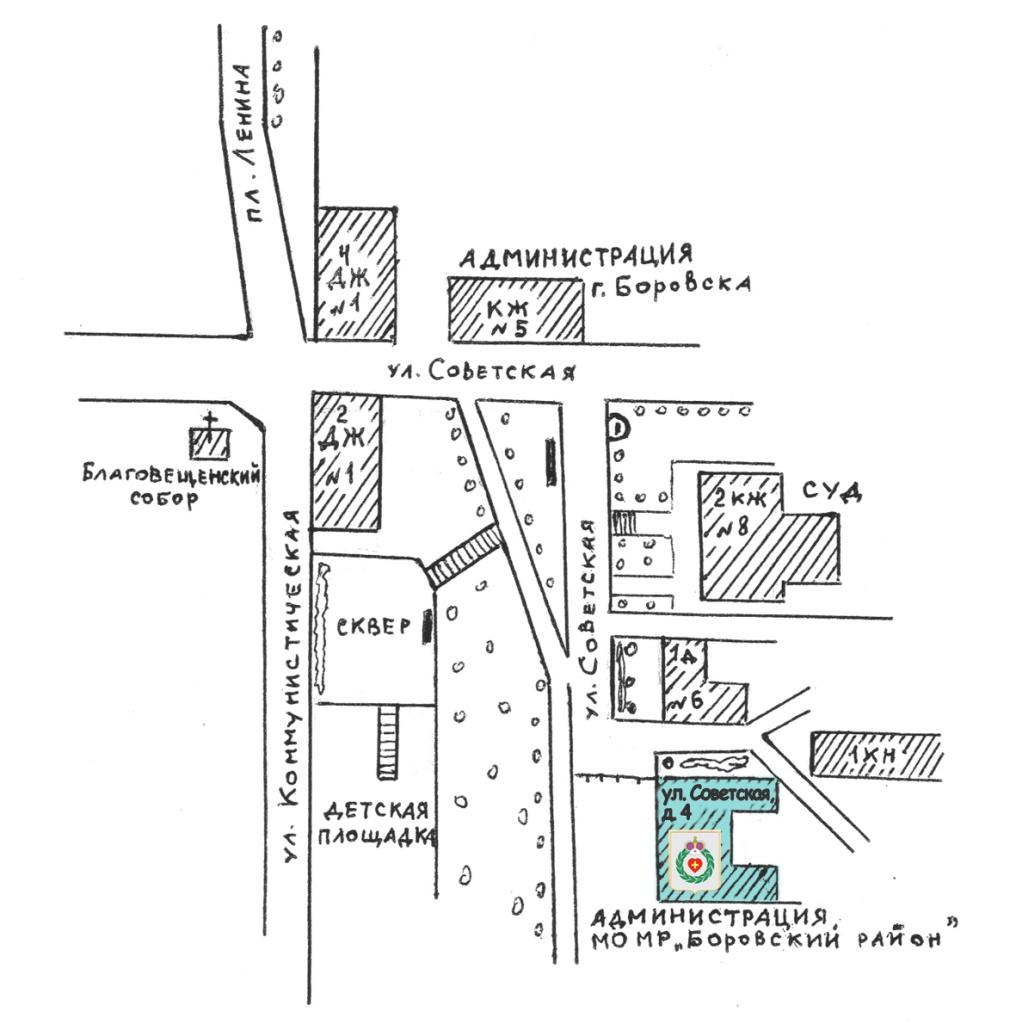 Графическая схема местонахождения
